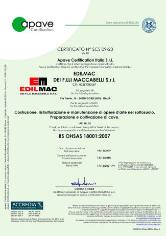 BS OHSAS 18001:2007 - Safety certification